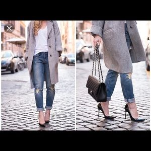 "Stuart Weitzman black leather pointy toe 3"" heels"